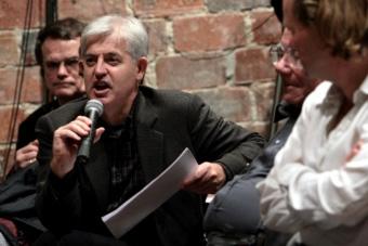 """Christopher Balme w czasie konferencji """"Performatyka: perspektywy rozwojowe"""""""
