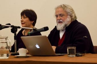 """Ferruccio Marotti w czasie konferencji """"Grotowski: bo było, co jest..."""""""