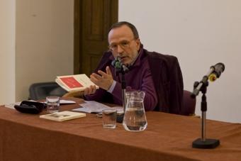 """Marco De Marinis w czasie konferencji """"Grotowski: co było, co jest.."""""""