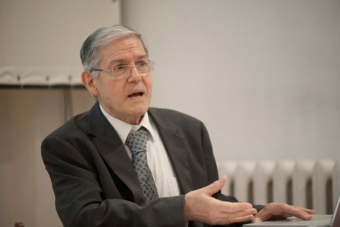 Jean Marie-Pradier w czasie letnich seminariów Otwartego Uniwersytetu Poszukiwań
