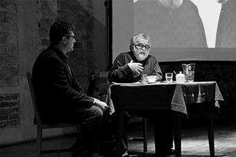 Leszek Demkowicz (tłumacz) i Georges Banu –  fot. Karol Jarek