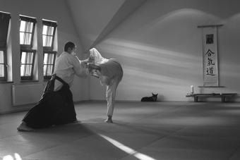 Aikido, treningi prowadzone przez Przemysława Błaszczaka. Fot. Anita Szymańska