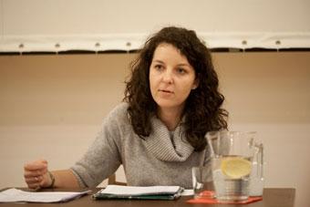 """Koryna Dylewska: """"Jogin z Nienadówki"""" – wykład, 13 stycznia 2011, fot. Irena Lip"""
