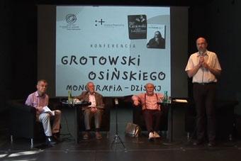 Zbigniew Osiński, Kazimierz Grotowski, Ludwik Flaszen, Dariusz Kosiński, konfere