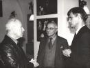 Od lewej: Peter Brook, Józef Kelera, Zbigniew Osiński