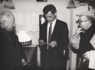 Od lewej: Peter Brook, Zbigniew Osiński, Stanisław Krotoski