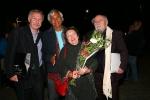 Od lewej: Leszek Mądzik, Eugenio Barba, Irena Kozaczka-Flaszen, Ludwik Flaszen