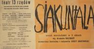 Plakat spektaklu Siakuntala, 1960