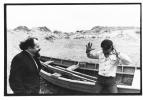 Ludwik Flaszen i Ryszard Cieślak na duńskim wybrzeżu Morza Bałtyckiego, 1971