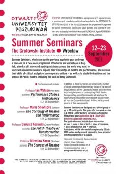 Summer Seminars