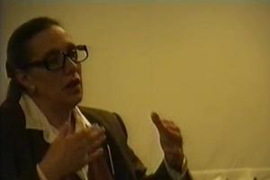 Spotkanie z Mają Komorowską w Ośrodku Grotowskiego, 15 maja 1994