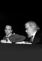 From left: Thomas Richards i Jerzy Grotowski